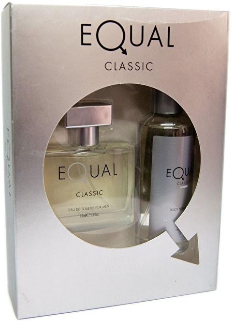 Hunca Equal Classic Erkek Edt 75 Ml + Body Splash 150 Ml Renksiz